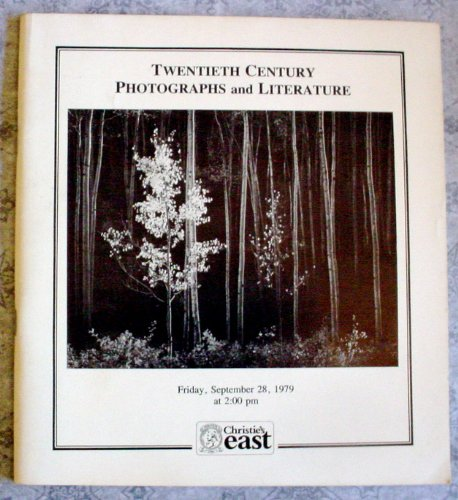 TWENTIETH CENTURY PHOTOGRAPHS AND LITERATURE - INCLUDING A MAJOR OFFERING OF PHOTOGRAPHS, PORTFOLIOS AND PUBLICATIONS BY ANSEL ADAMS FRIDAY, SEPT. 28, 1979 - SALE # 035