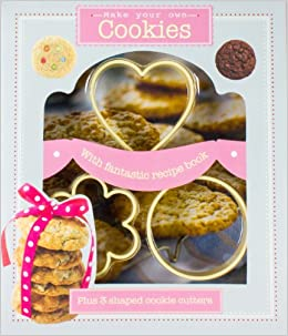 Make your own cookies kit with fantastic recipe book plus 3 shaped make your own cookies kit with fantastic recipe book plus 3 shaped cookie cutters box parragon books love food editors 9781781864050 amazon forumfinder Image collections