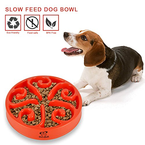 (Decyam Pet Fun Feeder Dog Bowl Slow Feeder, Bloat Stop Maze Dog Bowl Interactive Cat Puzzle Feerder)