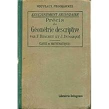 Précis de Géométrie descriptive. Classe de mathématiques