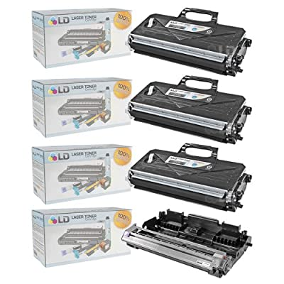LD © Compatible with Brother TN360 Toner and DR360 Drum Combo Pack: 3 Black TN360 Laser Toner Cartridge and 1 DR360 Drum Unit for use in DCP-7030, DCP-7040, DCP-7045N, HL-2140, HL-2150N, HL-2170W, MFC-7320, MFC-7340, MFC-7345DN, MFC-7345N, MFC-7440N & MFC