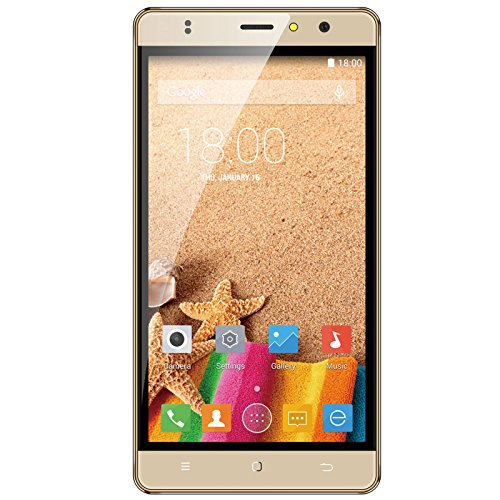 Timmy M20 Fingerprint 5.5 Inch Android 6.0 Marshmallow MTK6580M Dual SIM Dual Camera Support GPS WIFI (Gold)