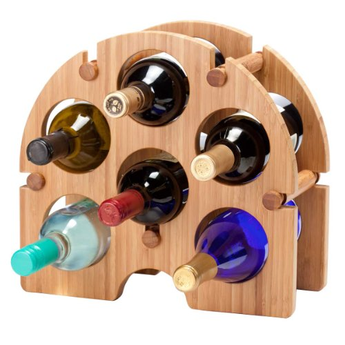 Oenophilia Bamboo Arch Wine Rack - 6 Bottle