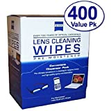 Zeiss Pre-Moistened Lens Cleaning Wipes - Cleans Bacteria, Germs and without Streaks for Eyeglasses and Sunglasses (Pack of 3 (400 ct each))