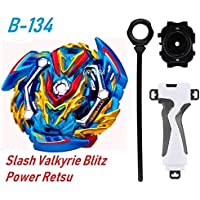BEAU STUTI Battling Top Beyblades GT B-134 Booster Slash Valkyrie. Bl. Pw RETSU with Starter Launcher and Grip