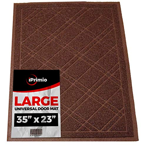 "SlipToGrip Universal Door Mat – Plaid Design Size 35"" x 24"" – Anti Slip, Durable & Washable – Duraloop Mesh Entrance Outdoor & Indoor Welcome Mat – Dirt and Dust Absorber from SlipToGrip"