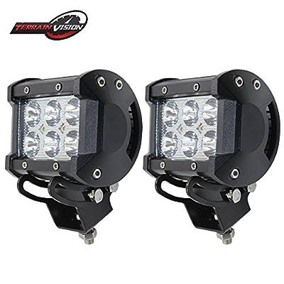 "TERRAIN VISION 3"" LED Work Light Bar 16W FLOOD Beam 3x3 Inch Cube Pods Off-road Fog Driving DRL Light For Jeep JK TJ LJ Trucks Pick Up SUV ATV UTV FORD HUMMER GMC 4PCS"