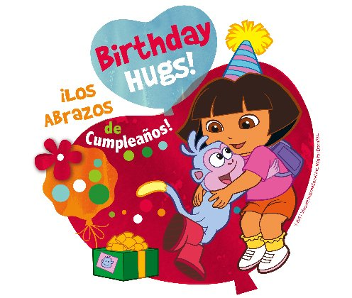 Dora the Explorer Birthday Edible Cupcake Toppers Decoration -  DecoPac