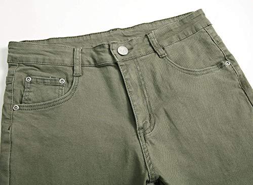 Chicos Moda Color Destruidos Slim De Pantalones Los Pantalones Solo De Vaqueros Hombres Retro Hombres Los Clásico Stretch Jeans Ocio Rot Mezclilla Fit De De w0nBAPqn6