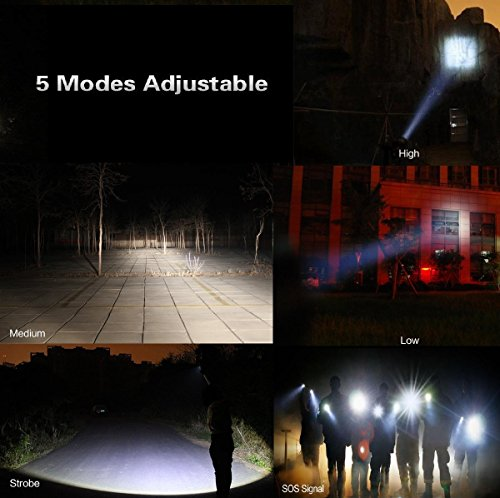 Tactical-Flashlight-2-Pack-Tac-Light-Torch-Flashlight-As-Seen-on-TV-XML-T6-Brightest-LED-Flashlight-with-5-Modes-Adjustable-Waterproof-Military-Grade-Flashlight-for-Biking-Camping-by-LETMY
