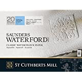 "Saunders Waterford Block 300gsm 310 x 410mm (12"" x 16"") 20 Sheets NOT"