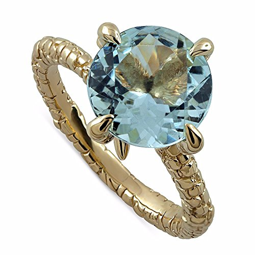 Hand Crafted Eagle Claw Artistic Non Traditional 3.5CT 14K Gold Aquamarine Engagement Ring 2.5mm (14k Gold Eagle Claws)