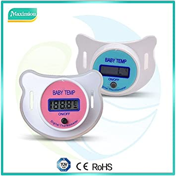 LCD Digital Infant Baby Kid Nipple Thermometer Temperature Temp Mouth Health EL