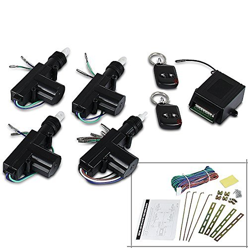 Spec-D Tuning CDS-110A Central Power Lock/Unlock Car Entry Keyless Remote Kit (Lock/ Unlock For 2 4 Door)