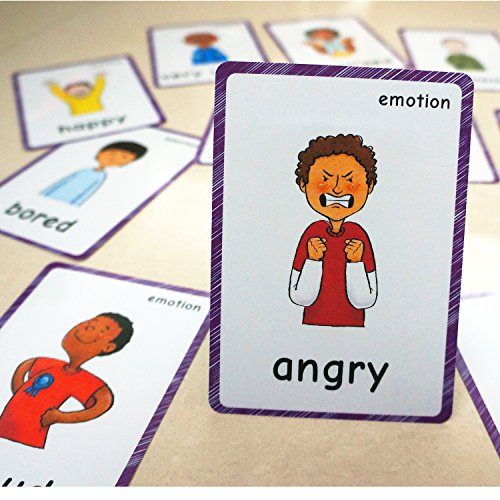 - SANTSUN 14 Feelings Emotions Flashcards and Affection Emotional Intelligence Kindergarten Classroom Decoration Background Wall Stickers Teach Flash Card