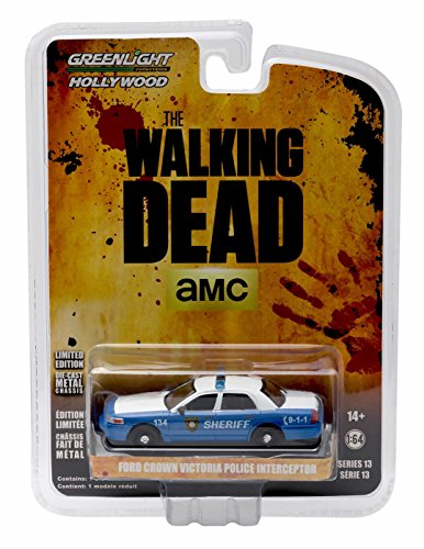 - Rick & Shane's FORD CROWN VICTORIA POLICE INTERCEPTOR (Linden County, Georgia Sheriff) from THE WALKING DEAD * GL Hollywood Series 13 * 2016 Greenlight Collectibles 1:64 Scale Die Cast Vehicle