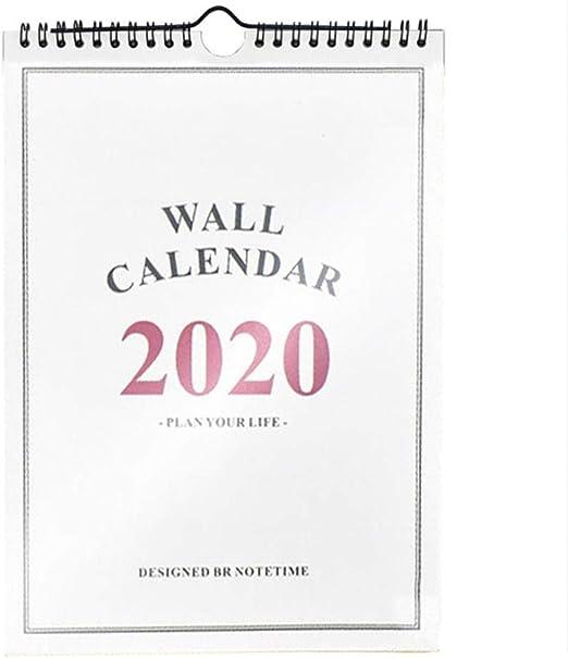 Rich-Hom 2019-2020 Calendario De Pared del Planificador De Hogar ...