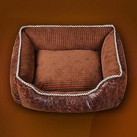 Pet Online Perro cama extraíble y lavable Universal Four Seasons grueso acolchado para perros y gatos
