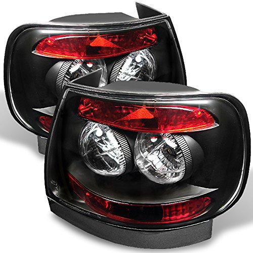 For 96-01 Audi A4 S4 (B5 8D) 4DR Sedan Black Housing Tail Brake Lights Lamp Driver and Passenger Side ()