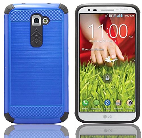 LG G2,iSee Case (TM) LG G2 Case Luxury Tuff Super Armor Hybrid Dual Layer Protective Cover for T-Mobile AT&T Sprint LG G2 (G2-Tuff Armor Blue) (Best Protective Case For Lg G2)