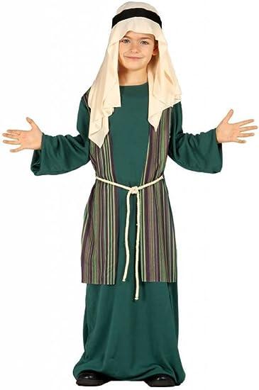 Guirca-42501 Costume pastorello Arabo Verde giudeo Presepe Vivente