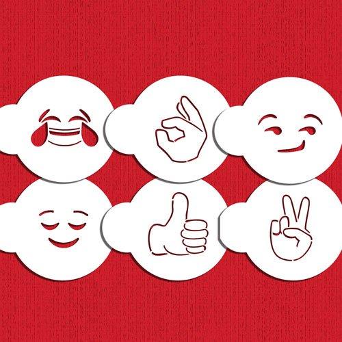 Emoji 2/Ensemble Pochoir Cookie C1017/par la designer Pochoirs