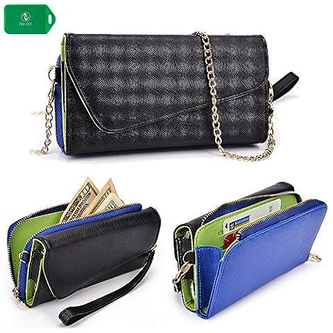 Cellphone wallet wristlet case, New Holds Phone|Cards|Cash- Universal fit for Zte Zmax |ZTE Q705U|ZTE (Phone Quartz)