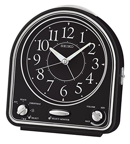 Seiko Alarm Clock, Black Plastic, 14.3x 12.9x 7cm