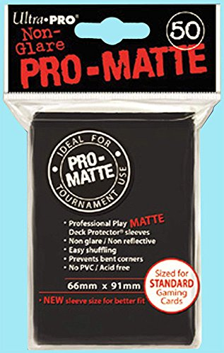 Ultra Pro PRO-MATTE (600 Count) Standard Black Deck Protector Sleeves - Magic the Gathering 12 Pack Box/Case ()
