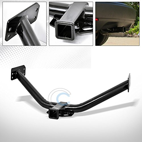 HS Power Black Finished Class 3 Trailer Hitch Receiver Rear Bumper Tow Kit 2