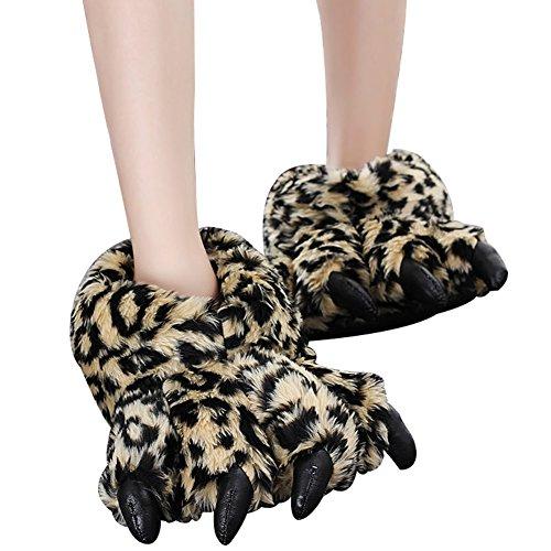 Pantoufles Hiver House Household en patte Peluche et Stuffed doux Chaud Femmes Indoor peluche Slipper Emoji Hommes Chaussons Shoes qERxwWOBUF