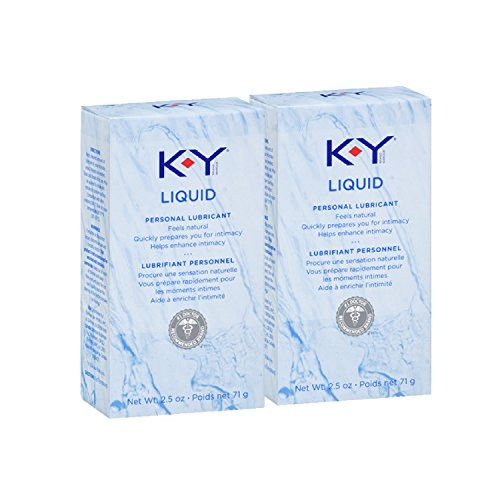 K-Y Liquid Personal Water Based Lubricant, 2.5 Ounce (Pack of 2)