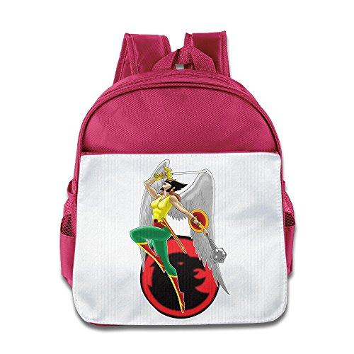 (XJBD Custom Cute Hawkgirl Superhero Children School Bagpack Bag For 1-6 Years Old)