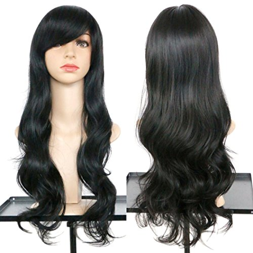 [DEESEE(TM) Women's Wavy Curly Long Hair Full Of Wig Cosplay Costume Party Natural Wigs (E)] (Making Waves Sailor Costume)