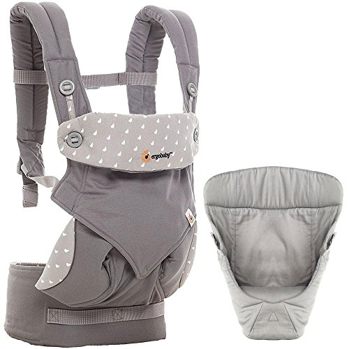 Ergobaby 360 All Carry Positions Bundle Of Joy with Easy Snug Infant Insert - Dewy Grey by Ergobaby