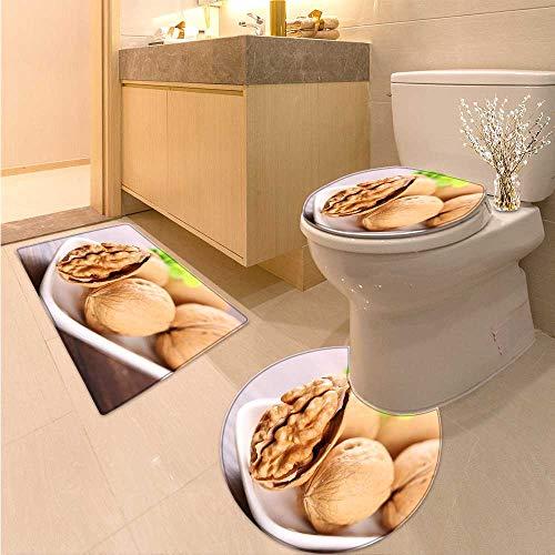 MikiDa Cushion Non-Slip Toilet Mat Walnut Cushion Non-Slip