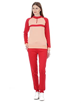 16cadcd24c4 Cloak   Decker by Monte Carlo Women Red Tracksuit( 8907903446954 Peach  Red S )