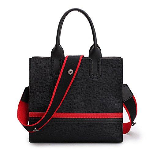 GWQGZ Nuevo Simple Moda Señoras Bolso Bolso De Hombro De Atmósfera Informal Negro Black