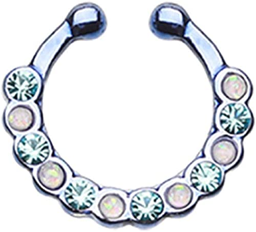 Covet Jewelry Colorline Radiant Kao Fake Septum Clip-On Ring