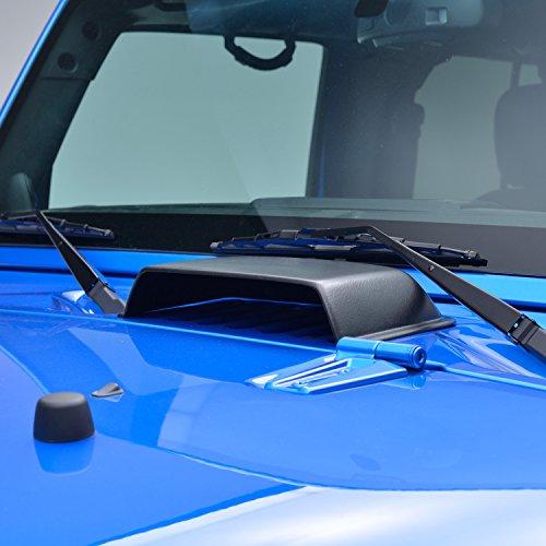 E-Autogrilles Black Heater Air Vent Hood Scoop for 07-17 Jeep Wrangler JK (Jeep Hood Scoop)