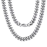 Men's Stainless Steel Cuban Link Chain Necklace 10MM 18' Hip Hop Jewelry