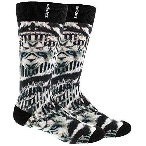 adidas Men's Neo Crew Sublimated Socks (1 Pack), One Size, White Tiger