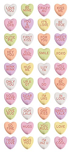 - Paper House Productions STP-0028E Heart Candies Puffy Stickers (3-Pack)