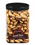 Jaybee's Roasted Salted Brazil Nuts - (32 oz) Great for Daily Snack, Baking, Cooking and Gift Giving - Reusable Container - Kosher Certified