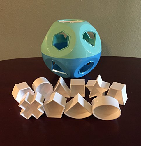 Tupperware Shape-O Toy Ball Mint Ice Cream/Salt Water Taf...