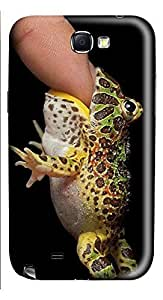 Samsung Note 2 Case Frogs eat finger 3D Custom Samsung Note 2 Case Cover