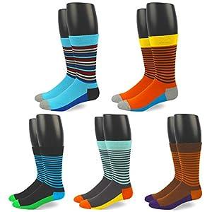 RioRiva Mens Formal Dress Socks Mid Calf 100% Cotton ,US 6-10.5/EU 39-44.5,MSK43-4pack