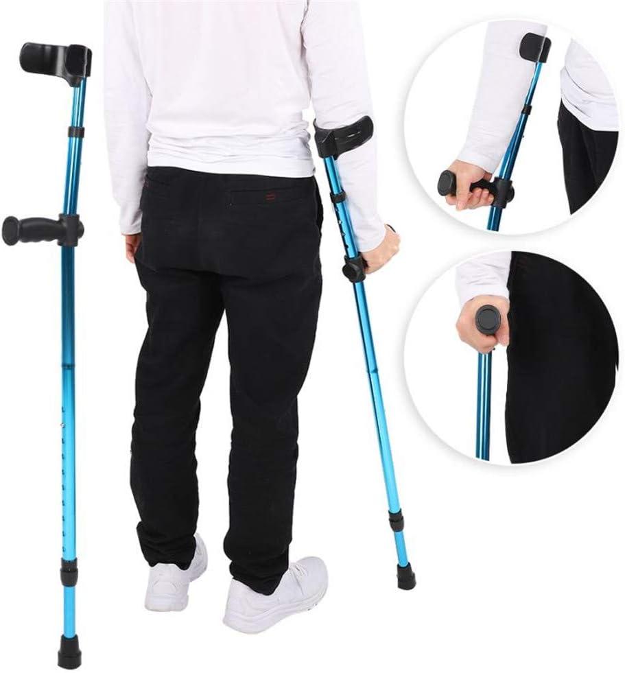 RAXST Muletas ortopédicas,Muletas Adulto Regulables Aluminio, Muletas ergonomicas, Par de Muletas Ajustables, con Agarre cómodo