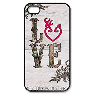 Browning Cutter Logo Productive Back Phone Case For Iphone 4 4S case cover -Pattern-8