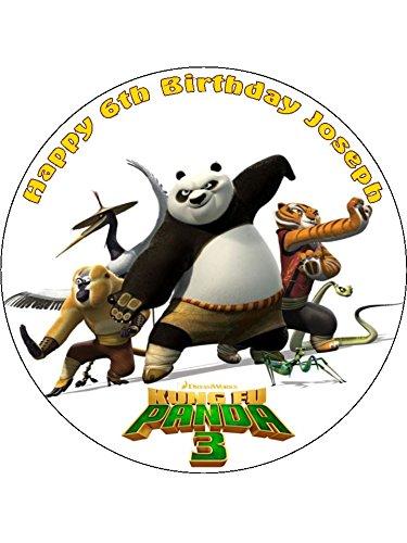 Astounding 7 5 Kung Fu Panda 3 Personalised Edible Icing Birthday Cake Topper Funny Birthday Cards Online Alyptdamsfinfo